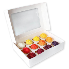 Cup Cake Box - 12 - With Insert