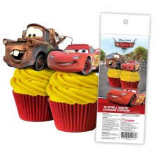 Wafer Paper Cupcake Topper - Cars