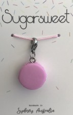 Jewellery - Strawberry Macaron Charm