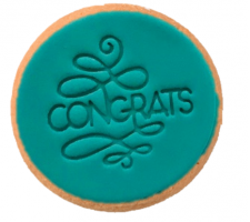 Cake Mad - Cookie Embosser - Congrats