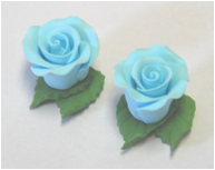 Flower - Rose - Blue- Tiny (With Leaf)