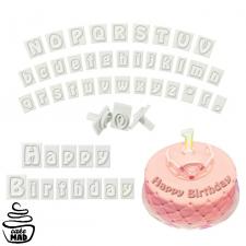Cake Mad - Cutter - Alphabet Message Press Set White