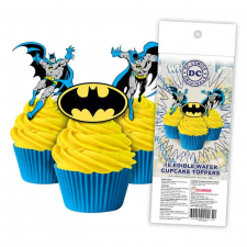 Wafer Paper Cupcake Topper - Batman