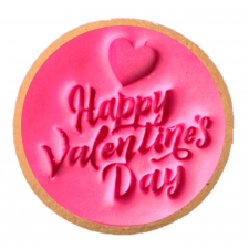 Cake Mad - Cookie Embosser - Happy Valentines Day