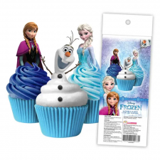 Wafer Paper Cupcake Topper - Frozen