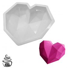 Cake Mad - 3D Geo Giant Heart Silicone Mould