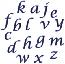 Cutter - FMM - Alphabet Script Lower