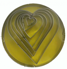 Cutter - 7 Pc Heart Shapes 11cm - Tin