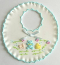 Flower - Sugar Bib - Blue