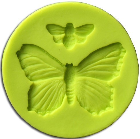 Cake Decorating Solutions Edible Images : Mould - Green - Butterfly & Bee - Cake Decorating Solutions