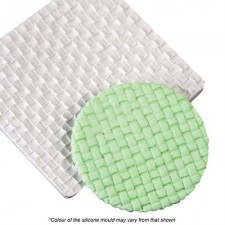 Silicone Mould - Texture Mat - Wicker Weave