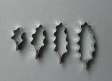 Cutter - Holly Leaves (Set Of 4)