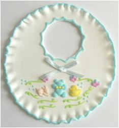 Cake Decorating Solutions : Flower - Sugar Bib - Blue - Cake Decorating Solutions