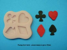 Mould - Mini -Playing Card Suits