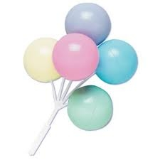 Plastic - Balloons Pick - Pastel - Large