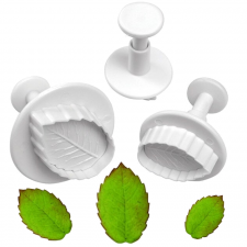 Cutter - Ejector - Rose Leaf - Set of 3