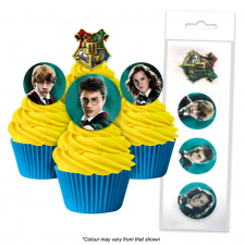 Wafer Paper Cupcake Topper - Harry Potter