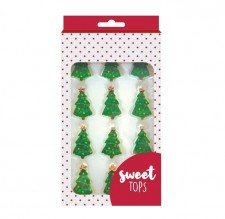 Sugar Decorations - Xmas Trees - 12 Pack