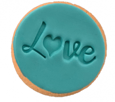 Cake Mad - Cookie Embosser - Love #5