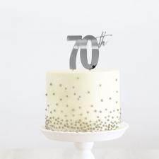 Cake Topper - 70th - Silver