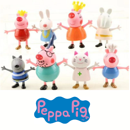 Figurines Peppa Pig Set Of 8 Cake Decorating Solutions