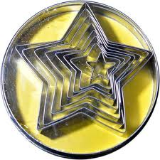 Cutter - Five Point Stars 8Pc 10Cm - Tin