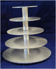 Cake Stand - Masonite - 5 Tier Round