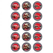 Edible Image - Cupcake - Disney Cars