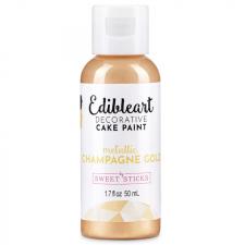 Sweet Sticks Edible Paint - Metallic - Champagne Gold 50ml