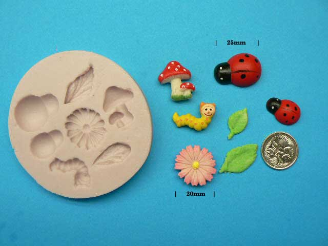 Cake Decorating Solutions : Mould - Garden Friends - Cake Decorating Solutions
