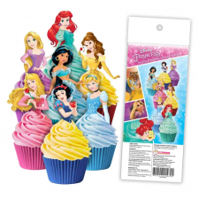 Wafer Paper Cupcake Topper - Princesses