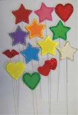 Flower - Stars On Wire - Glitter