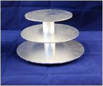 Cake Stand - Masonite - 3 Tier Round