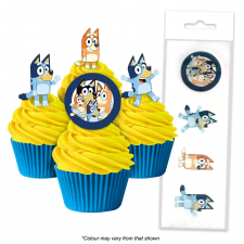 Wafer Paper Cupcake Topper - Bluey