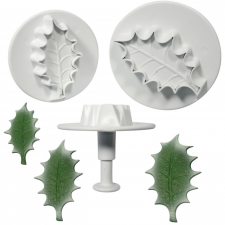 Cutter - Ejector - Holly Leaf - Set of 3