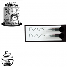 Edible Mini Pen Set - Black Set 2