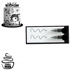 Edible Mini Pen Set - Black Set 2