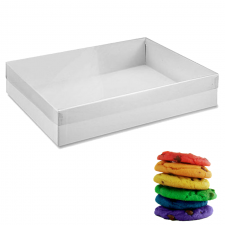 Cookie Box (Full Clear Lid) - 12.5x10x2 (31.25x25x5cm)